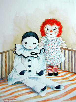 Raggedy Ann and Pierrot